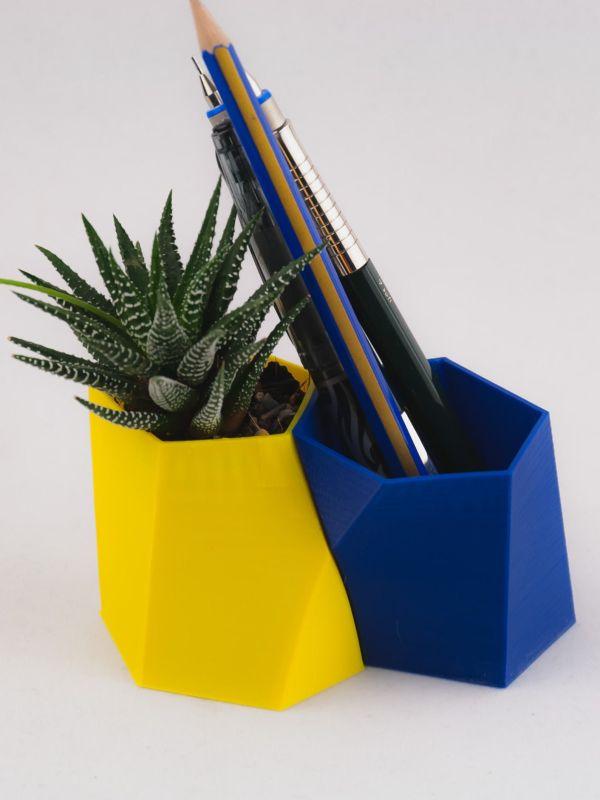 Scutoid Planter & Pen Holder
